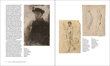 page of Picasso looks at Degas