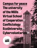 coberta de la revista del campus per la pau
